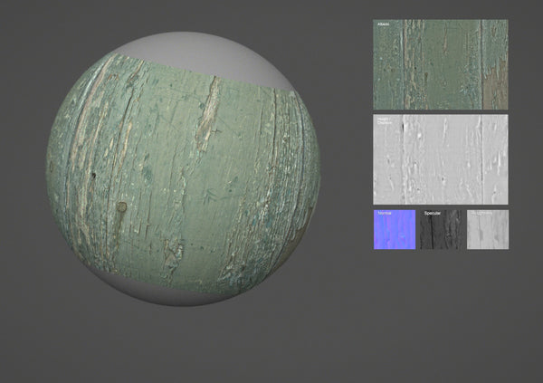 Painted wood #01 - Texturing.xyz