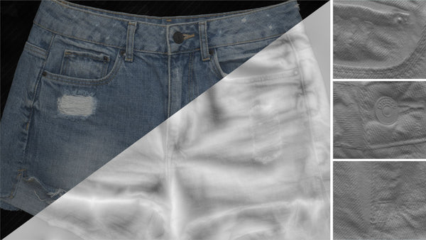 Denim short #01 - Texturing.xyz