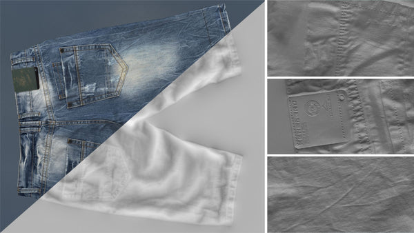 Denim short #06 - Texturing.xyz