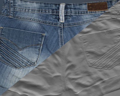Denim short #08 - Texturing.xyz