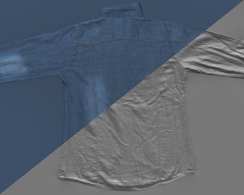 Denim shirt #04 - Texturing.xyz