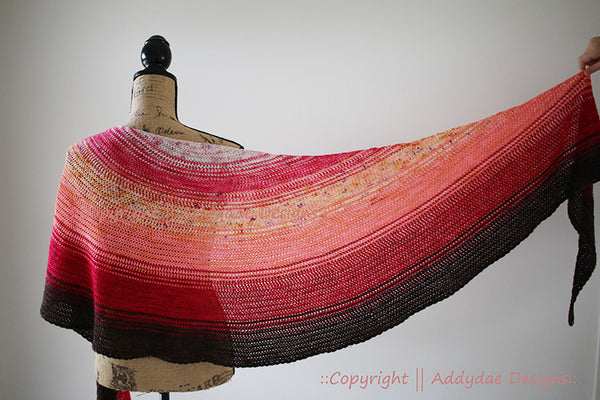 ADDYDAE BLURRE Shawl<br>Yarn Only Kit