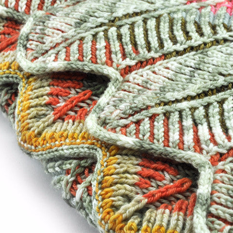 BRIOCHEVRON WRAP<br>Yarn Only KIT<br>in RIDGY DIDGE Yarns