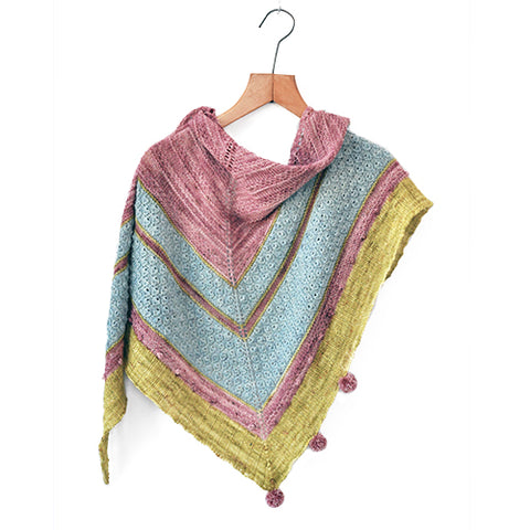 GIRLS BEST FRIEND Shawl<br>Yarn Only KIT<br>in RIDGY DIDGE Yarns