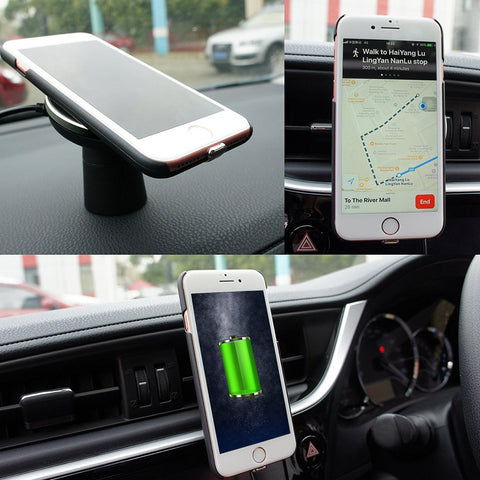 Spedal 2-in-1 Wireless Car Charger & Magnetic Vehicle Air Vent Mount