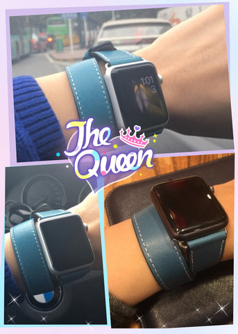 Hoco Double Tour Apple Watch Hermes Bands-Blue