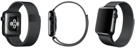Space black milanese loop apple watch-focuseak