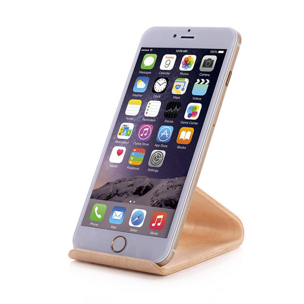 Wooden Iphone Stands Mobile Cell Phone Holder Focuseak
