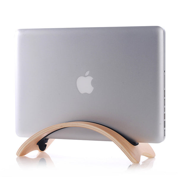 Wooden Vertical Macbook Stand Rack