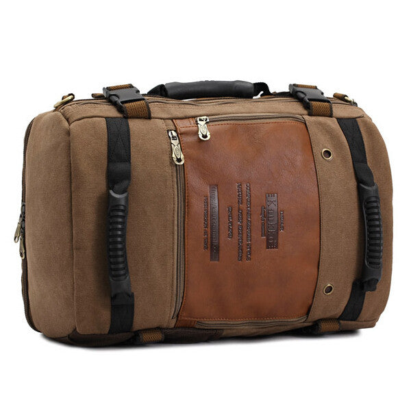 Men Canvas multi-function Travel Handbag Backpack Camping Outdoor Hiking Bag-1