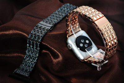 W4 Diamond Bezel Stainless Steel Band for Apple Watch