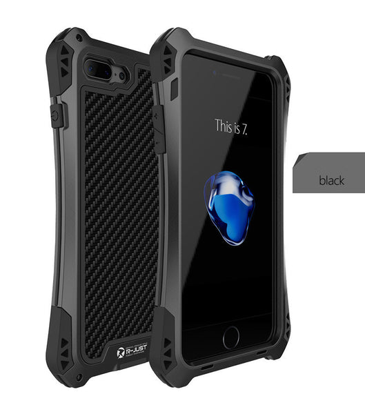 R-JUST Aluminum Metal Shock Waterproof Case for iPhone 7, iPhone 7 Plus