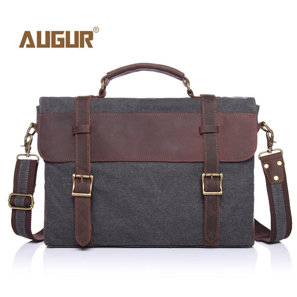 Men's Vintage Unisex Canvas Laptop Messenger Bags Briefcase
