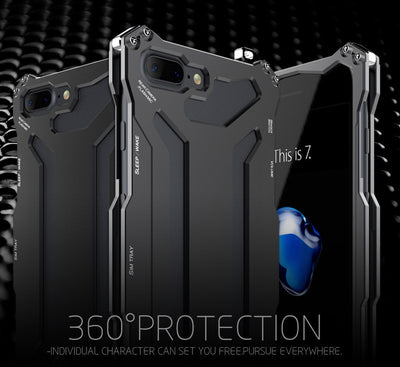 R-just Metal Protective Shockproof Case for iPhone 7/7 Plus