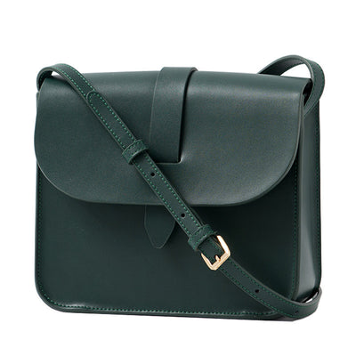 women's leather messenger bag for work/ school