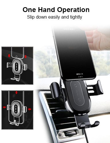 Baseus Gravity  Qi Wireless Car Charger Mount