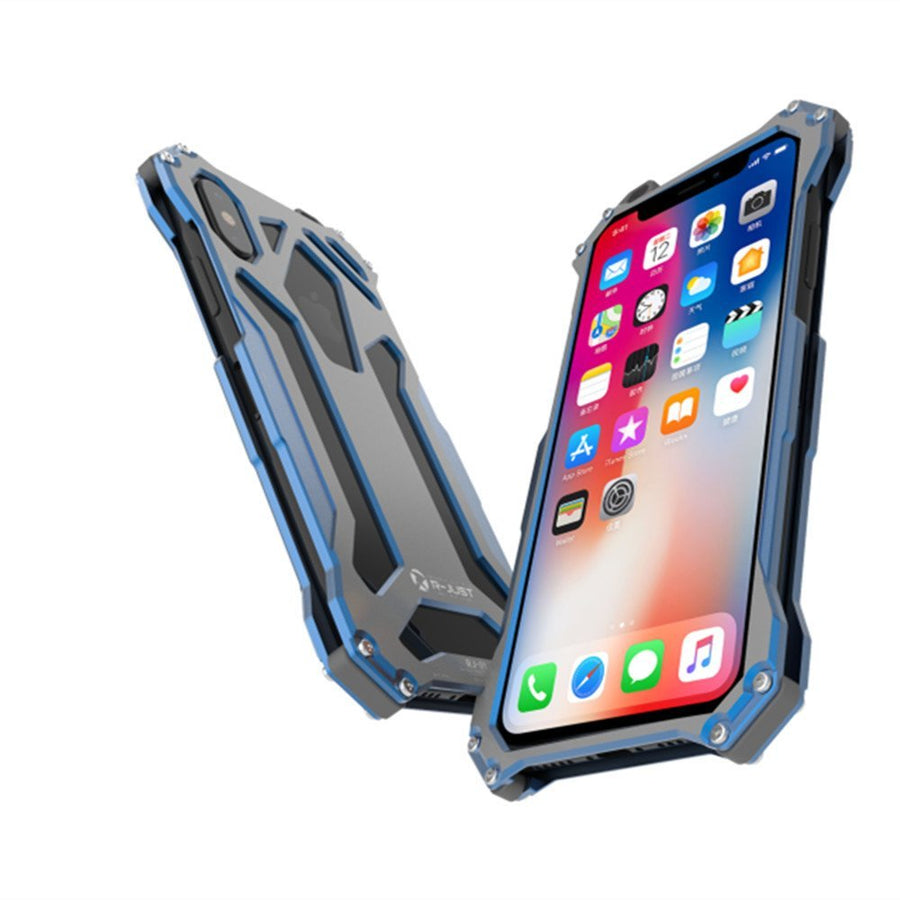 R-just Metal Protective Shockproof Case for Apple iPhone X