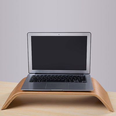 Birch Wooden Laptop Stand for Apple iMac MacBook Notebook