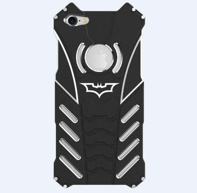 Batman Style Aluminum Metal Bumper Frame Shockproof Case for iPhone 6/6S 7 and 7 Plus