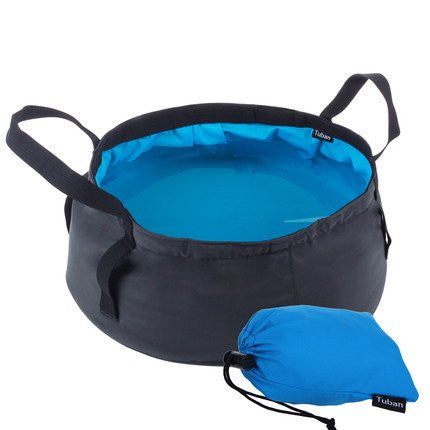8.5L Outdoor Camping Hiking Foldable Wash Basin Bucket