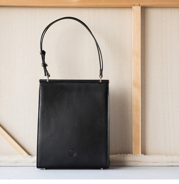 Black Leather Shoulder Bag Tote Bags for Women