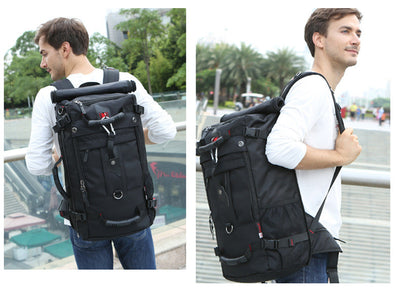 Black Travel Backpack Daypack Hiking Bag