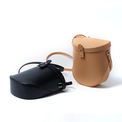 Bullet design Small Leather Women Saddle Bag Purse