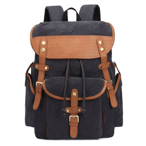 Canvas Outdoor Travel Backpack Rucksack Shoulders Bag for Men and Women