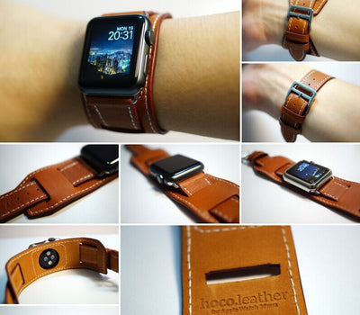 Hoco Single Double, Double Tour, Cuff Leather Band for Apple Watch