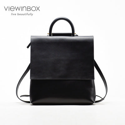 Leather Backpack for Women College Preppy Style Designer School Bags