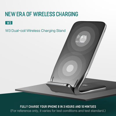 ROCK Fast Wireless Charging Pad Stand for iPhone X/8 Plus/Samsung