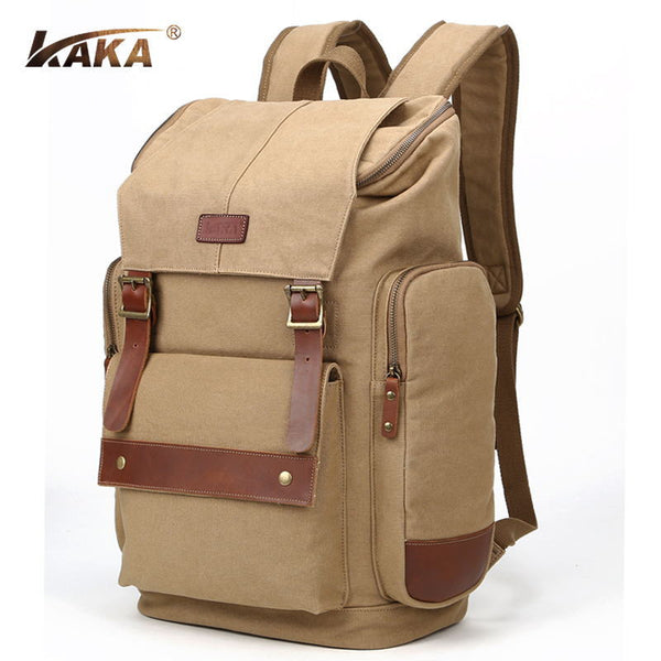 Retro Canvas Men's Travel Camping Hiking Backpack Bag