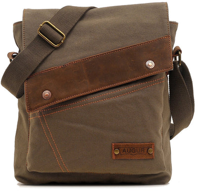 Eco-friendly Vintage Canvas Men's Messenger Shoulder Bag for iPad