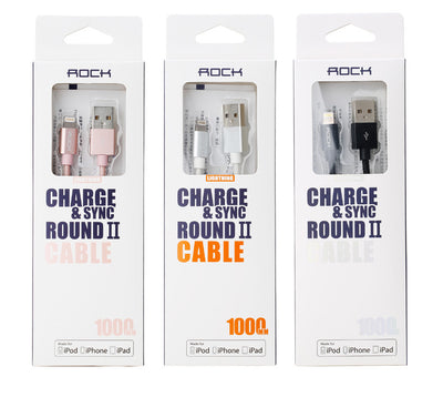 Rock Nylon Round MFI Certified Lightning Cable for iPhone iPad
