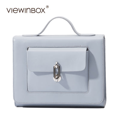 Viewinbox Small Flat Leather Postman Bag for Women, Lady handbag