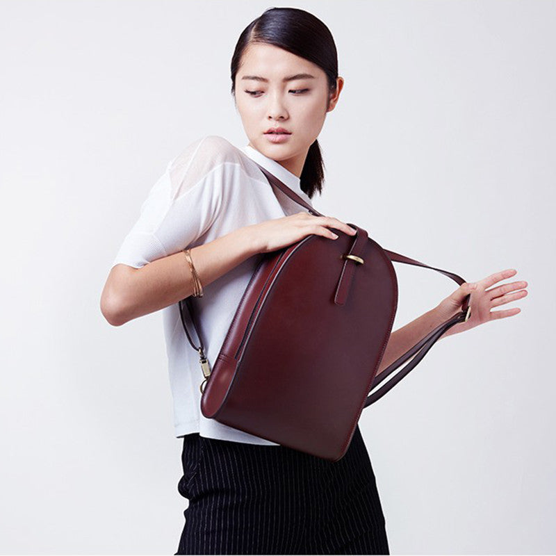 fashion leather backpack for women preppy school bags