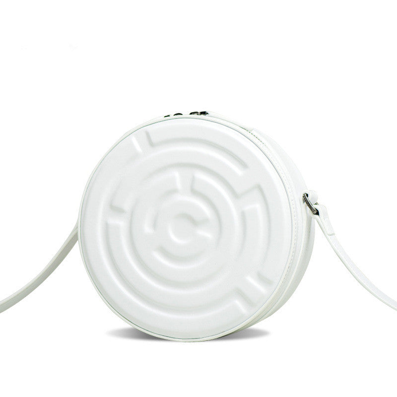 Small Cute labyrinth Pattern Nappa Leather Women's Shoulder Bag