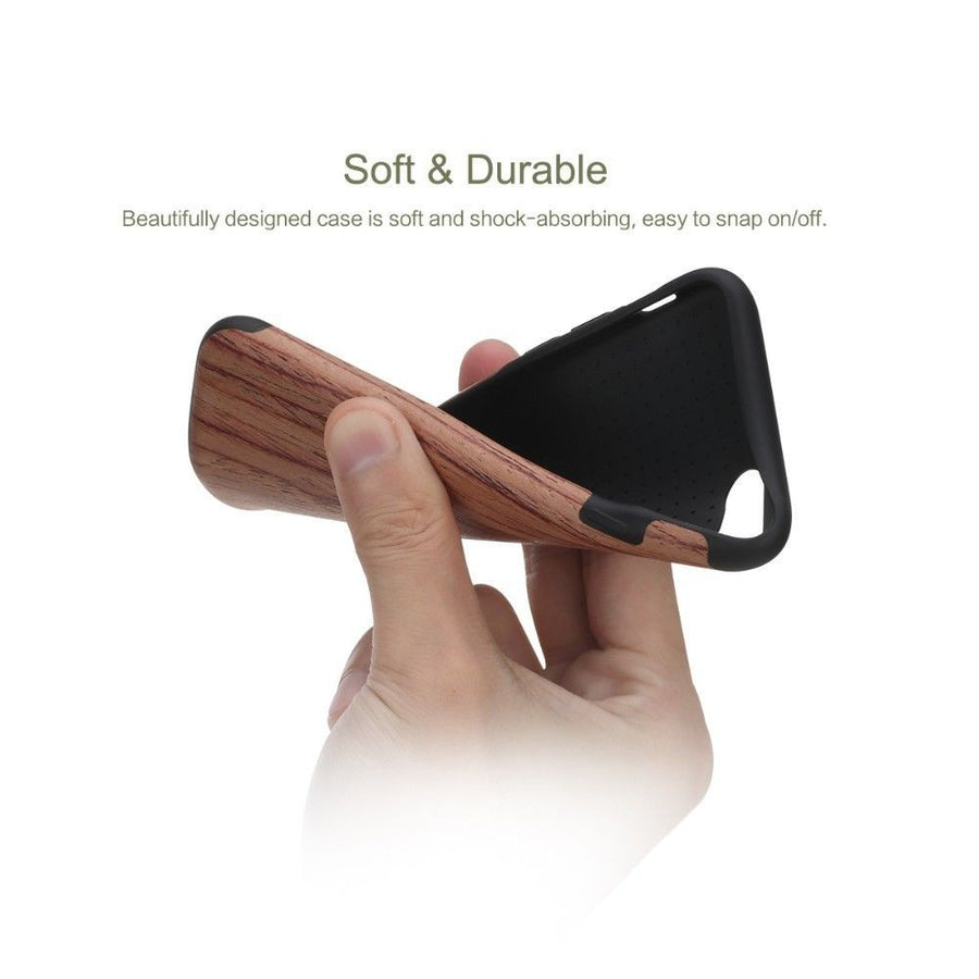 Wood Pattern + TPU Case for iPhone 7 & 7 Plus