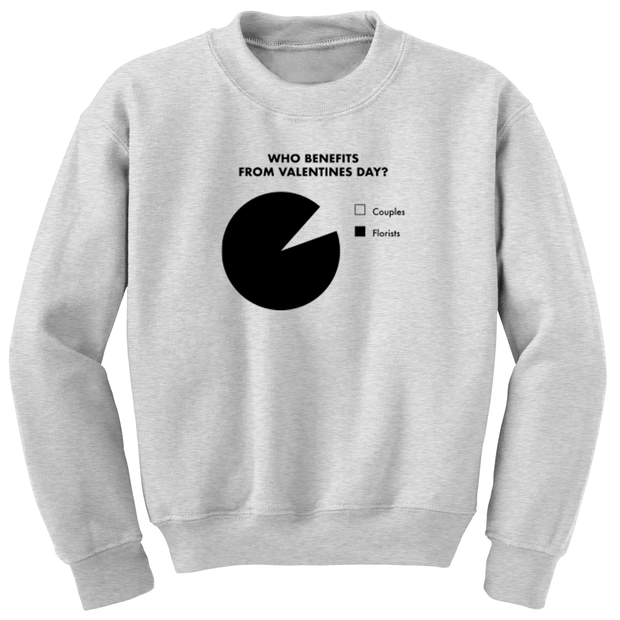 Who Benefits From Valentines Day? Unisex Jumper A0070 - Illustrated Identity Ltd.