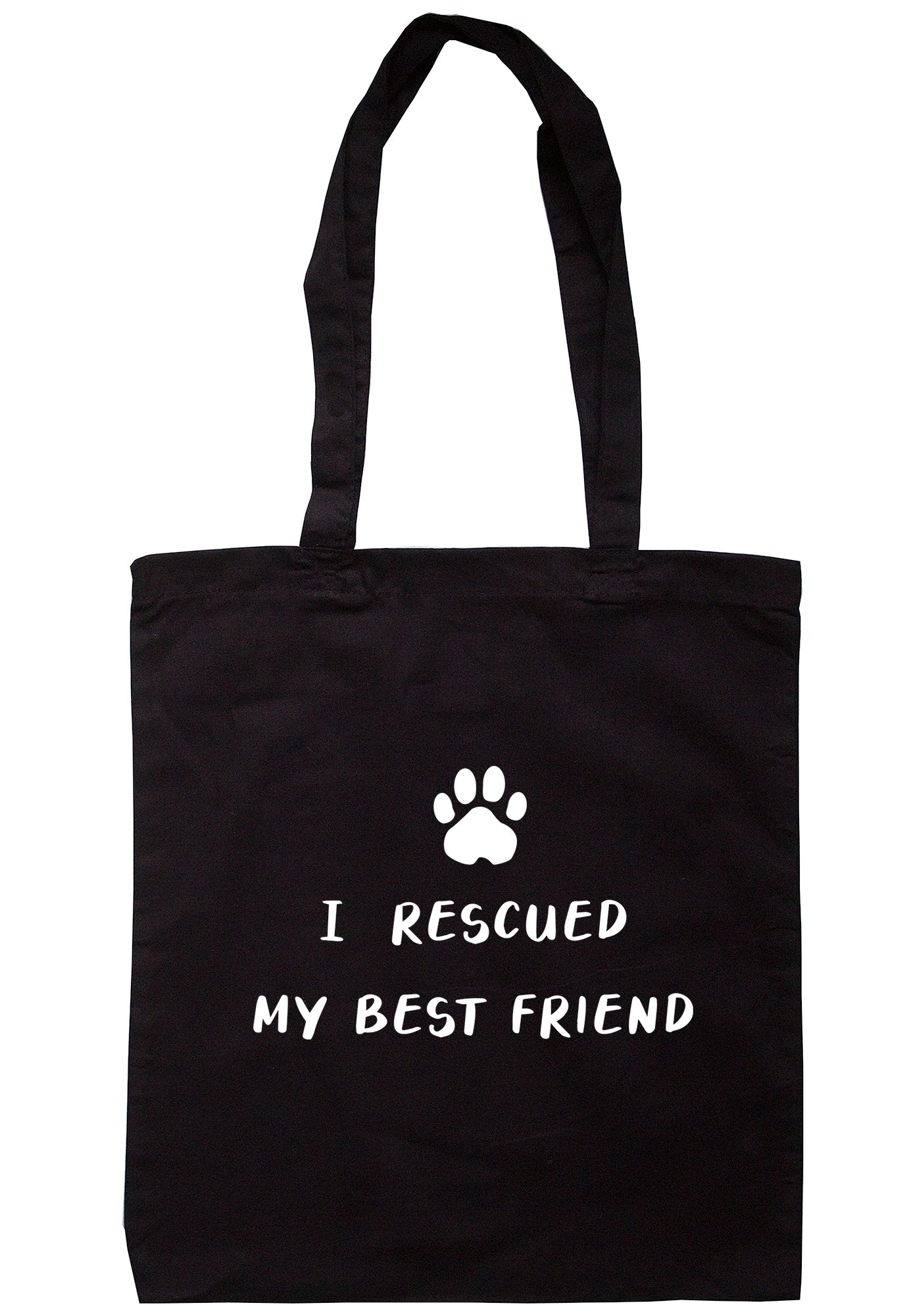 I Rescued My Best Friend Tote Bag A0073 - Illustrated Identity Ltd.