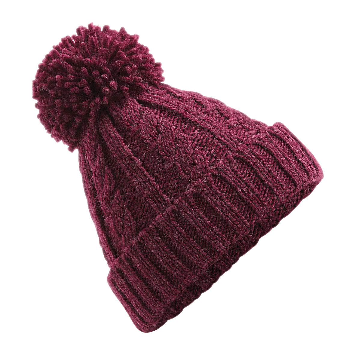 Cable Knit Melange Winter Bobble Hat H0006 - Illustrated Identity Ltd.