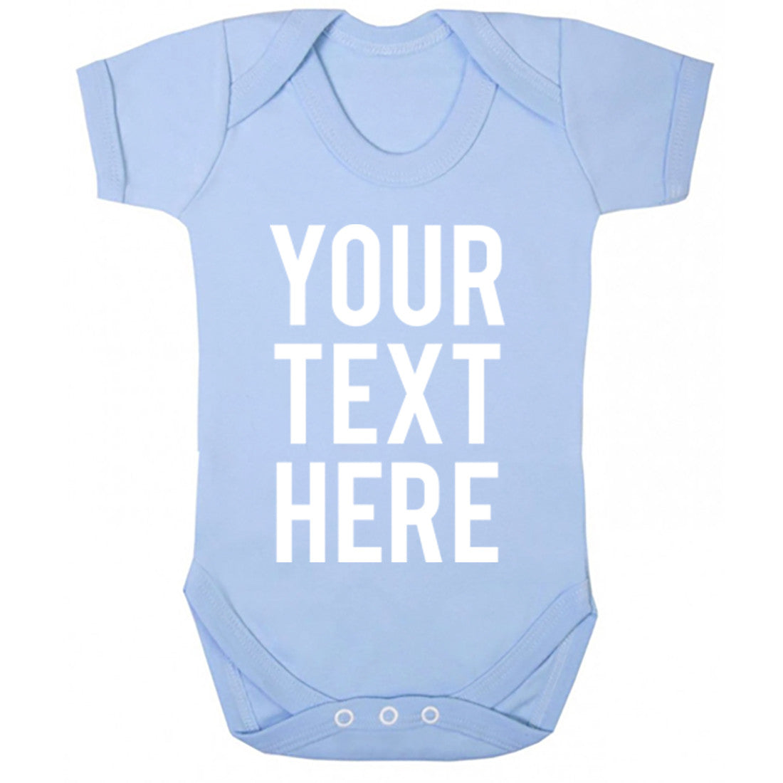 Your Text Here Baby Vest K0001 - Illustrated Identity Ltd.
