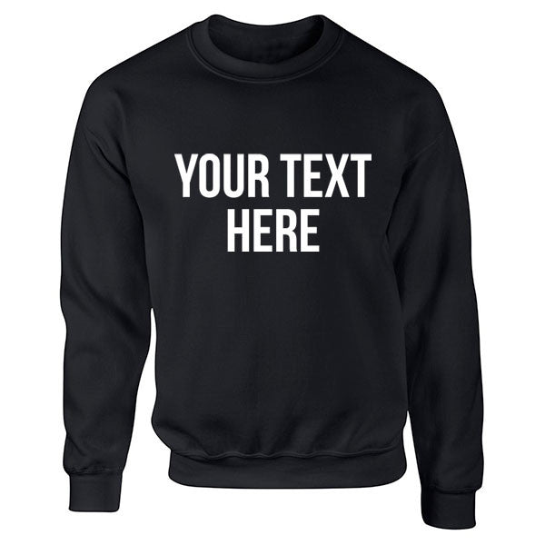 'Your Text Here' Personalised Unisex Jumper K0001 - Illustrated Identity Ltd.