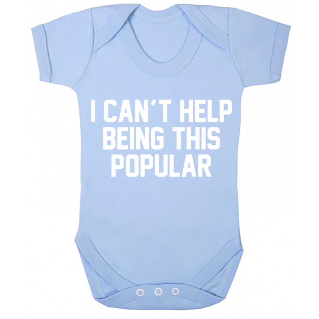 I Can't Help Being This Popular Baby Vest K0011 - Illustrated Identity Ltd.