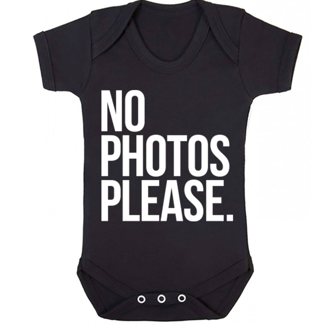 No Photos Please Baby Vest K0046