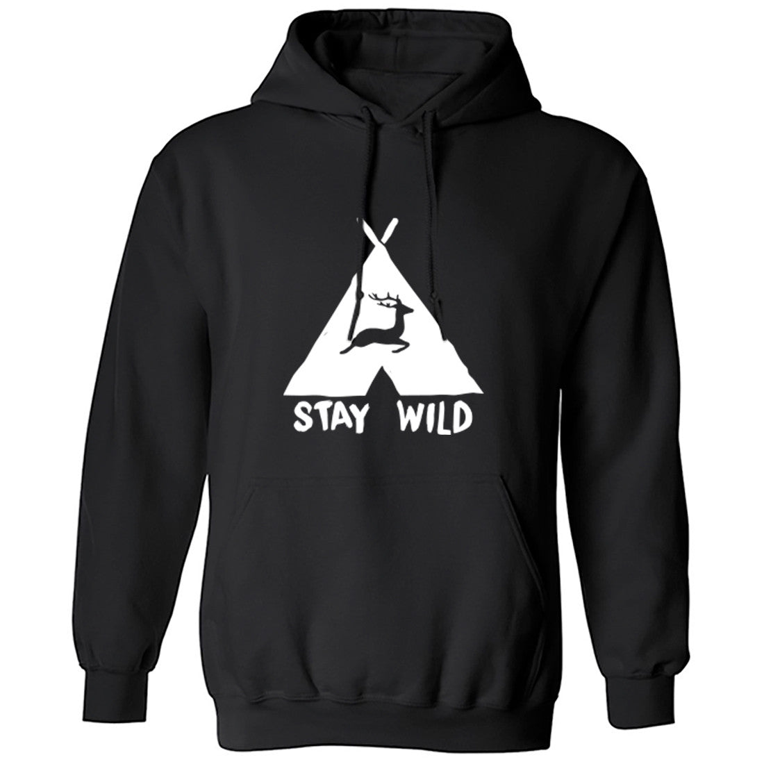 Stay Wild Unisex Hoodie K0090 - Illustrated Identity Ltd.