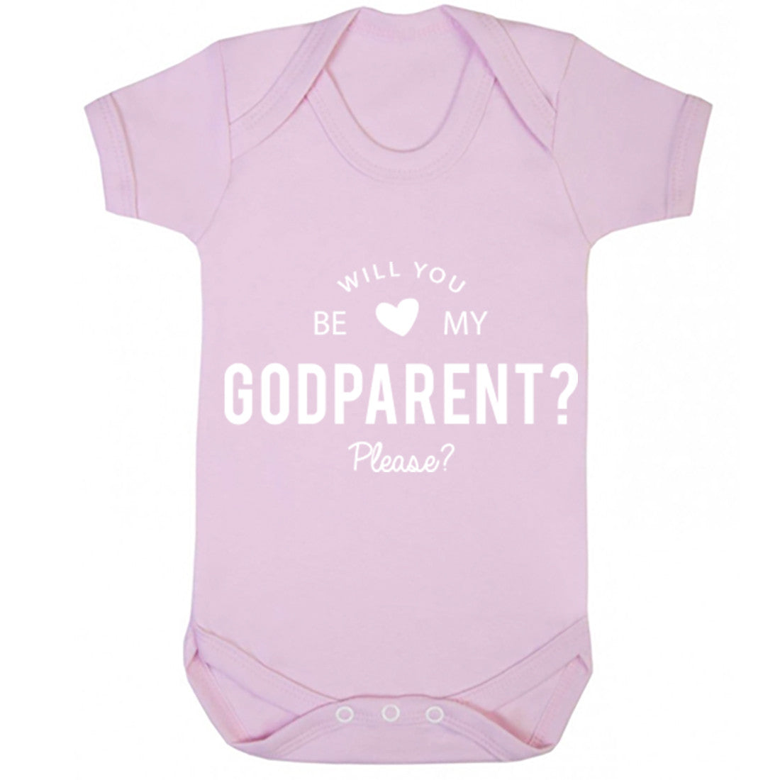 Will You Be My Godparent Please? Baby Vest K0112 - Illustrated Identity Ltd.