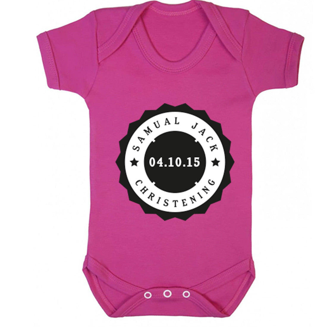 Christening Date Baby Vest K0113 - Illustrated Identity Ltd.