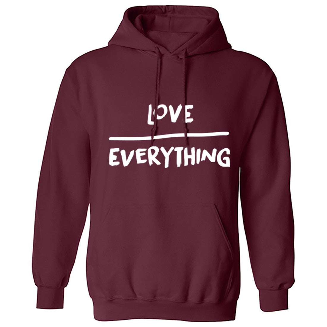Love Over Everything Unisex Hoodie K0127 - Illustrated Identity Ltd.