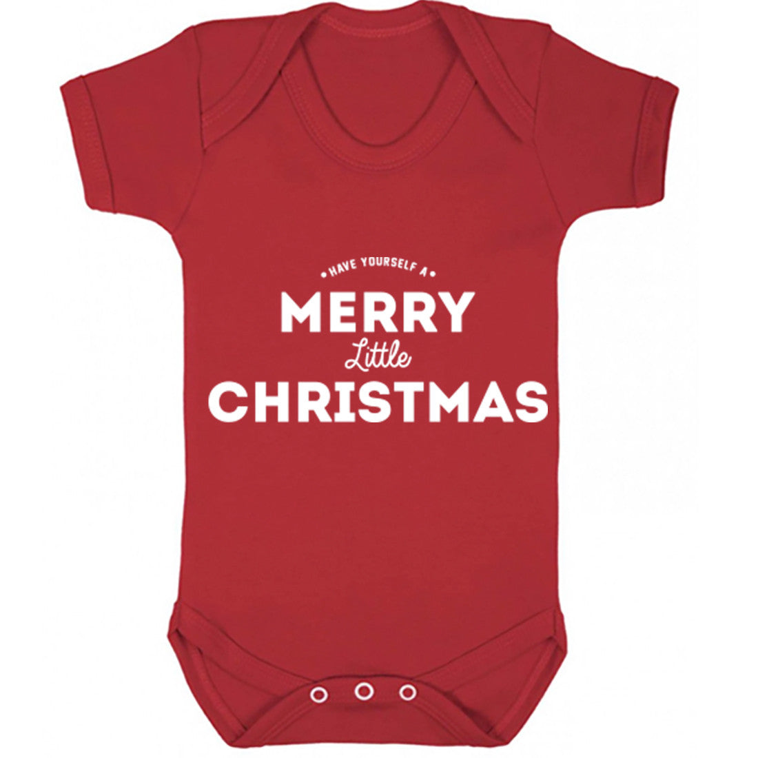 Have Yourself A Merry Little Christmas Baby Vest K0141 - Illustrated Identity Ltd.